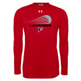 Under Armour Red Long Sleeve Tech Tee-Lacrosse Modern