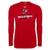 Under Armour Red Long Sleeve Tech Tee-Volleyball Dig it
