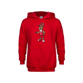 Youth Red Fleece Hood-Youth Stag