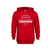 Youth Red Fleece Hoodie-2017 Mens Soccer Champions