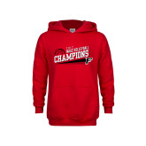 Youth Red Fleece Hoodie-2017 Volleyball Champions