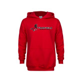 Youth Red Fleece Hoodie-Athletics
