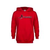 Youth Red Fleece Hoodie-Field Hockey