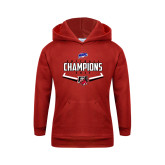 Youth Red Fleece Hood-2017 MAAC Softball Champions - Plate