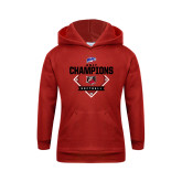 Youth Red Fleece Hood-2017 MAAC Softball Champions - Diamond