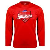 Syntrel Performance Red Longsleeve Shirt-2016 MAAC Baseball Champions