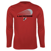 Performance Red Longsleeve Shirt-Lacrosse Modern