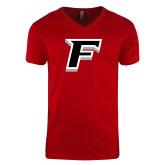 Next Level V Neck Red T Shirt-F