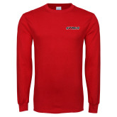 Red Long Sleeve T Shirt-Stags
