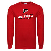 Red Long Sleeve T Shirt-Volleyball Dig it