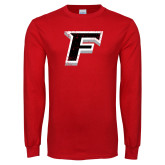 Red Long Sleeve T Shirt-F Distressed