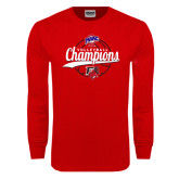 Red Long Sleeve T Shirt-2016 MAAC Volleyball Champions