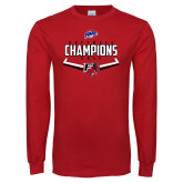 Red Long Sleeve T Shirt-2017 MAAC Softball Champions - Plate