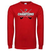 Red Long Sleeve T Shirt-2017 Field Hockey Champions