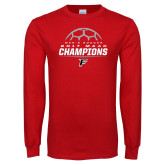 Red Long Sleeve T Shirt-2017 Mens Soccer Champions