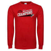 Red Long Sleeve T Shirt-2017 Volleyball Champions