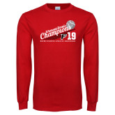 Red Long Sleeve T Shirt-2019 Womens Tennis Conference Champions