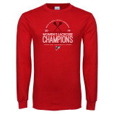 Red Long Sleeve T Shirt-2019 Womens Lacrosse Champions