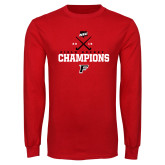 Red Long Sleeve T Shirt-2019 Field Hockey Champions