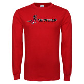 Red Long Sleeve T Shirt-Field Hockey