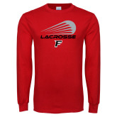 Red Long Sleeve T Shirt-Lacrosse Modern
