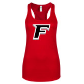 Next Level Ladies Red Ideal Racerback Tank-F