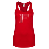 Next Level Ladies Red Ideal Racerback Tank-F Foil