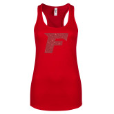 Next Level Ladies Red Ideal Racerback Tank-F Red Glitter