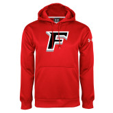 Under Armour Red Performance Sweats Team Hood-F
