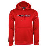 Under Armour Red Performance Sweats Team Hoodie-Fairfield University Stacked