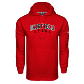Under Armour Red Performance Sweats Team Hood-Fairfield Stags Stacked