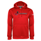 Under Armour Red Performance Sweats Team Hood-Athletics