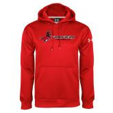 Under Armour Red Performance Sweats Team Hoodie-Lacrosse