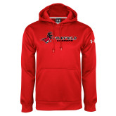 Under Armour Red Performance Sweats Team Hood-Grandpa