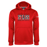 Under Armour Red Performance Sweats Team Hood-Basketball Stacked
