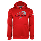 Under Armour Red Performance Sweats Team Hood-Lacrosse Modern