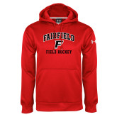 Under Armour Red Performance Sweats Team Hoodie-Field Hockey Arched