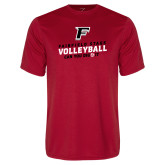 Performance Red Tee-Volleyball Dig it