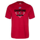Syntrel Performance Red Tee-2017 MAAC Softball Champions - Diamond