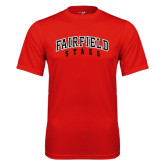 Syntrel Performance Red Tee-Fairfield Stags Stacked