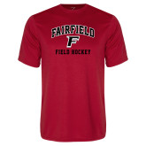 Performance Red Tee-Field Hockey Arched