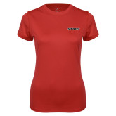 Ladies Syntrel Performance Red Tee-Stags