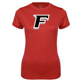 Ladies Syntrel Performance Red Tee-F