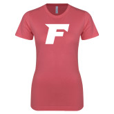 Next Level Ladies SoftStyle Junior Fitted Pink Tee-F