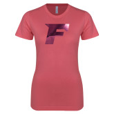 Next Level Ladies SoftStyle Junior Fitted Pink Tee-F Foil