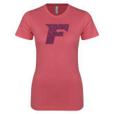 Next Level Ladies SoftStyle Junior Fitted Pink Tee-F Pink Glitter