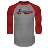 Grey/Red Raglan Baseball T-Shirt-Alumni