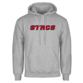 Grey Fleece Hoodie-Stags