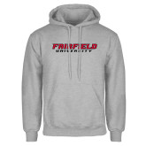 Grey Fleece Hoodie-Fairfield University Stacked
