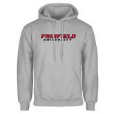 Grey Fleece Hood-Fairfield University Stacked